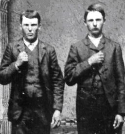 Jesse and Frank James in 1872.